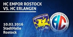 HC Empor Rostock gegen HC Erlangen