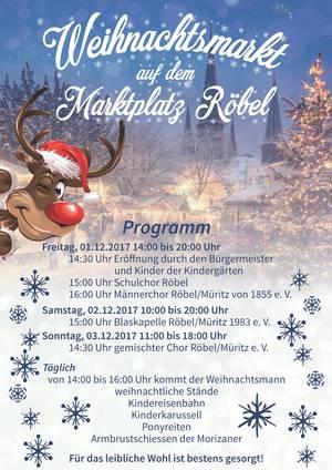 Weihnachtsmarkt in Röbel/Müritz