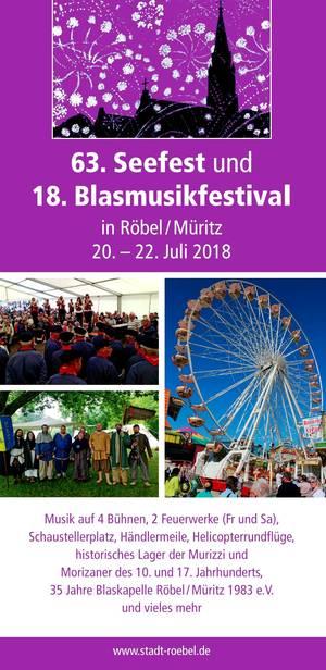 63. Seefest und 18. Blasmusikfestival Röbel/Müritz
